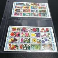 LOT 2 Equatorial-Guinea Postage Stamp Sheets DOGS + FLOWERS MNH