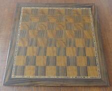 Sublime Ancien Echiquier Haute Marqueterie. Rare German Vintage Chess Board.
