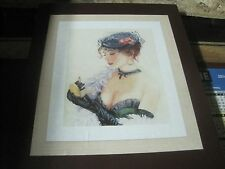 LANARTE CROSS STITCH KIT IN BOX ROMANCE LADY WITH A LIPSTICK 33 x 45 cm