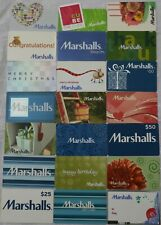 21 Marshalls Vintage Empty Gift Card Lot