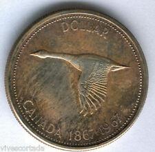 Canada 1 Dolar 1967 plata BU @@ Pato @@