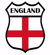 2 x England Shield Flag Decal Car Motorbike Laptop Window Sticker