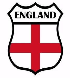 2 England Shield Flag Decal Car Motorbike Laptop Window Self Adhesive Sticker