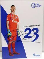 Autogrammkarte des FC Schalke 04 - 2019/2020 + Markus Schubert + AK2019145 +