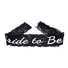 Bride To Be Black Lace Sash Hens Night Wedding Shower Bachelorette Party*v*