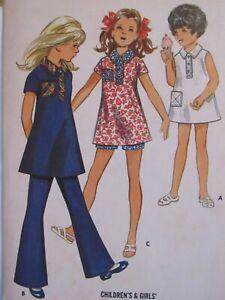 Lovely VTG 60s BUTTERICK 5628 Girls Mini-Dress Top Pants & Shorts PATTERN 8/27B