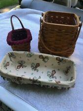 Longaberger Baskets lot of three