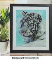 WHITE TIGER  -     CROSS STITCH PATTERN  ONLY   A5L2S