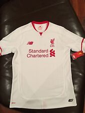 Brand New with tags New Balance Liverpool FC 2015-16 Away Jersey Size Youth XL