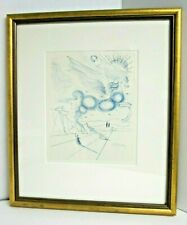 "SALVADOR DALI Etching ""Pegasus In Flight With An Angel"" 1970 Edition of 1,250"
