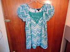 "Womens / Girls  George Size M 7-8 Multi Color Short Sleeve Top "" BEAUTIFUL TOP """