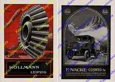 Reklame Luftwaffe Zeppelin Militär Köllmann Leipzig Lkw Auto Nacke Coswig 1917