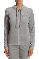 French Dressing Women's Jacket Gray Size Medium M Hooded Full Zip $80- #268
