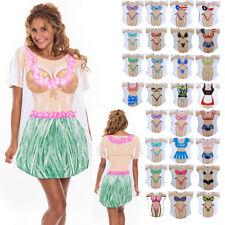 Women's Cotton Cover Up T-Shirt Swimwear Bikini Bathing Suit Beach Dress Sarong