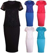 Lace Plus Size Scoop Neck Dresses for Women