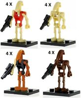 4X Star Wars Battle Droid Soldier Compatible Custom Lego Mini Figure Warrior Toy