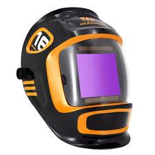 Welding Helmet True Color Extra Large View Solar Auto Darkening Welder Mask Us