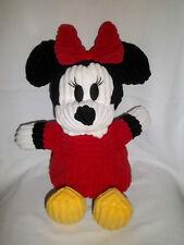 "Disney World Parks 16"" Plush Minnie Mouse Corduroy Large Stuffed Doll Toy"