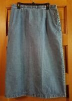 CJ Banks Christopher Denim Skirt 16 Blue Jean Modest Womens