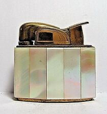 1950's Evans Small Lighter, Beautiful Mother Of Pearl Inlays, Working, USA