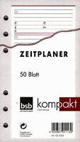 bsb kompakt A6 Terminplaner Zusatzeinlage - Adressen Kontakte - 50 Blatt 02-0062