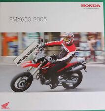 HONDA MOTO FMX650 2005 ADVERTISING PUBBLICITA DEPLIANT CATALOGO BROCHURE