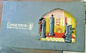 Conqueror Sculptured Chess by Ganine, Pacific Game Co ,Hollywood Cal. board game