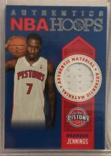 Brandon Jennings Detroit Pistons 2013-14 Panini Hoops Authentic Material Card 27