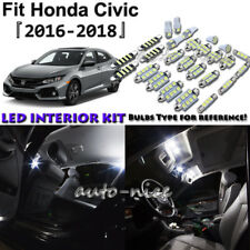 6x White LED Interior Lights Package Kit For 2016 2017 2018 Honda Civic