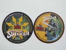 Cool Beer Coaster ~ LOOWIT Brewing Co Shadow Shinobi IPA ~ Vancouver, WASHINGTON