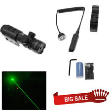 For Rifle Remote Switch 2 Mounts Tactical 532nm Green Laser Dot Scope Sight WIS