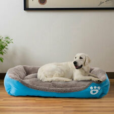 Large Pet Cat Dog Bed 8Colors Warm Cozy Dog House Soft Fleece Nest Dog Baskets