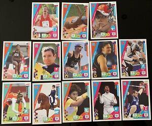 13 x Panini Adrenalyn XL London Olympics 2012 Trading Cards - Various Sports