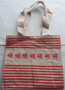 40 YEARS OF IDEAS DK Book Bag Multilingual Hand Made 100% Cotton CANVAS QUALITY
