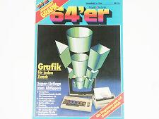 & lt 64er QUADERNO 6/86 & GT grafica 64'er rivista mercato & Technik (z4g024)