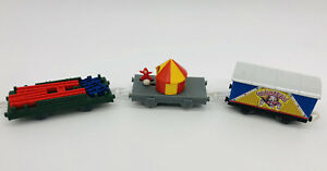 3 Carnival Cars Lot Thomas Friends Trackmaster For Motorized Trains Clown Puppet