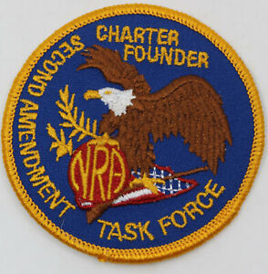 """NRA Second Amendment Task Force Charter Founder 3"""" Badge Patch Eagle"""