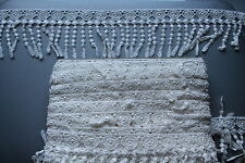 2m x 100mm Ivory Crochet Cotton Ribbon Lace for Sewing Trimming Bridal Edge Trim