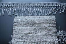 2m x 100mm Ivoire Crochet Coton Ruban Dentelle pour la couture Serviettage