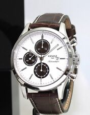 KIENZLE Superia ETA 7750 Automatik Chronograph Herrenuhr Leder Armband 5 BarW.R