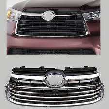 Chrome Stainless steel Grill Grilles cover trims for 2014 2015 Toyota Highlander