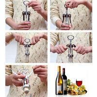 Stainless Steel Metal Wine Corkscrew Bottle Handle Opener Corkscrews Tool