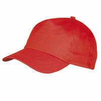 CAPPELLO Cappellino ROSSO con VISIERA Precurvata BASEBALL Unisex CAP Golf SPORT