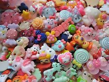 25 Pcs Resin Flatbacks Cute Kawaii Random Picked Mixed Lot Cabochon