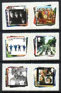 2007 GB BEATLES MNH Stamp Set SG 2686-2691 QEII Self Adhesive Unmounted Mint