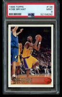 1996 97 TOPPS KOBE BRYANT ROOKIE RC #138 RC LOS ANGELES LAKERS PSA 9 MINT