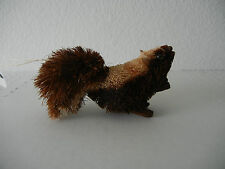 NEW MARTHA STEWART WOODLAND NATURAL BURI SQUIRREL CHRISTMAS ORNAMENT 4 IN BROWN