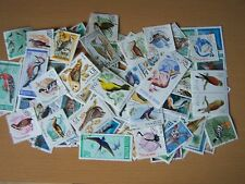 100 DIFFERENT BIRDS ON STAMPS,EXCELLENT.