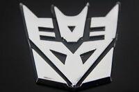 Transformer Decepticon Badge Chromed Finish