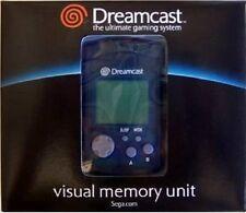 OFFICIAL ORIGINAL SEGA DREAMCAST BLUE VISUAL LCD MEMORY UNIT CARD VMU GENUINE